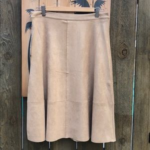 Dresses & Skirts - Bou Jeloud/ faux suede skirt